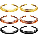 6 Pieces Teeth Headband Plastic Comb Hairband Hair Hoop Accessory for Women Girls
