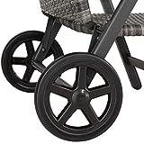 tectake aluminium und rattan gartenbank rollen