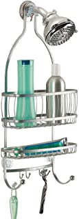 iDesign York Metal Wire Hanging Shower Caddy, Extra Wide Space for Shampoo, Conditioner,..