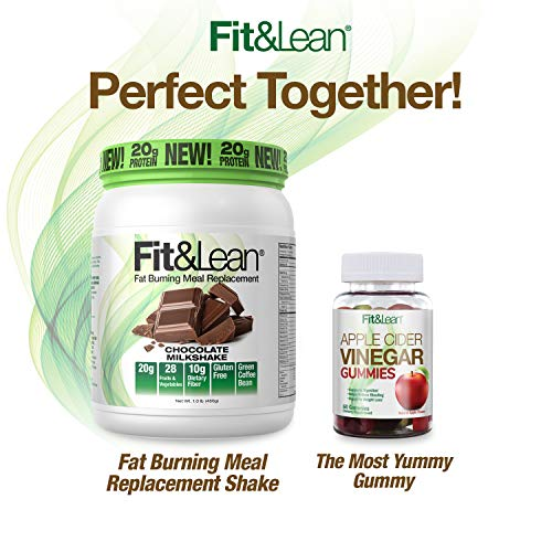 Fit & Lean Meal Shake Fat Burning Meal Replacement with Protein, Fiber, Probiotics and Organic Fruits & Vegetables and Green Tea for Weight Loss, 1lb, Chocolate, 10 Servings Per Container 6