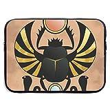 of Ancient Egypt Beetle Bolsas para computadora portátil Compatible con Tableta Netbook de 15 ″, Maletín con Funda Pringting Funda para Bolso con Funda