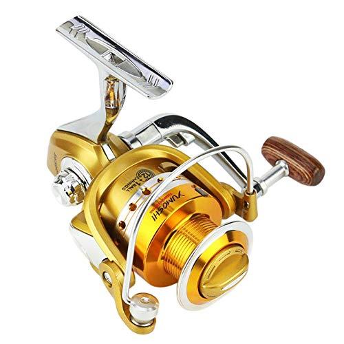 Mulinelli Da Spinning Leggeri Mulinello Da Spinning In Metallo Mulinello Da Pesca In Mare Sinistra/Destra Ultra Smooth Powerful (Size:4000; Color:Gold)