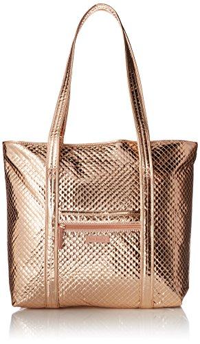 Vera Bradley Signature Cotton Vera Tote Bag, Rose Gold Shimmer