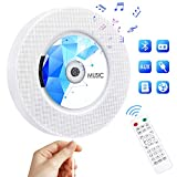 CD Player with Bluetooth, Qoosea Portable CD Music Player Wall Mountable, Home Audio Boombox with Remote Control FM Radio Built-in HiFi Speakers with MP3 Headphone 3.5 mm Jack/AUX Input Output