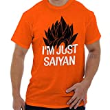 Brisco Brands Nerdy Im Just Saying Funny Goku Anime Pun T Shirt Tee Orange