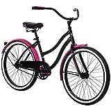 Huffy 24' Cranbrook Girls Cruiser Bike for Women, Black
