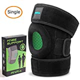 ANRI.E. Knee Brace Support for Meniscus Tear Arthritis ACL MCL LCL PCL Running Jumping Fitness Hiking – Best Adjustable Patella Stabilizer, One Size (12.3'-16.5') (Black, 12.3-16.5')