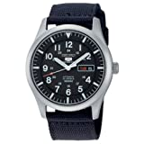 Gents Fabric Analogue Automatic Movement Casual / Lifestyle Black dial and Black strap or bracelet WR 100mt