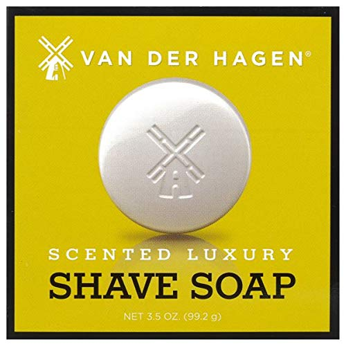 Van Der Hagen Men's Luxury Scented Shave Soap, 3.5 Ounce (Pack of 6)