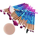 99native 20 Pcs/Set Maquillage Brush Set Makeup Brushes Kit Outils Maquillage Professionnel Maquillage Pinceaux Yeux Pinceau pour Les +1Pc Houppettes à Poudre (A)