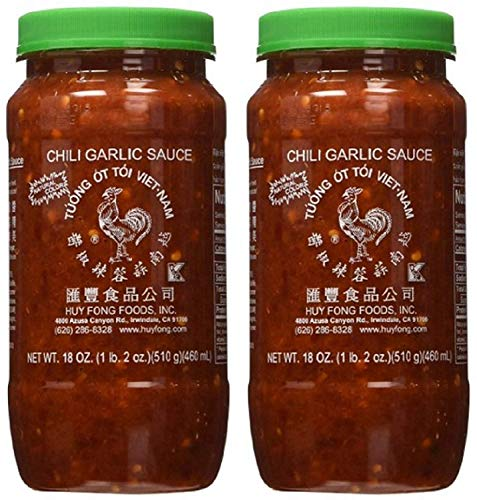 Huy Fong Fresh Chili Garlic Sauce 36 oz (Pack of 2), garlic