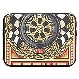 Sports Race Design Bolsas para Laptop Compatible con Tableta Netbook de 15 ″, Maletín con Funda de Pringting Funda de Transporte con Funda para Bolso