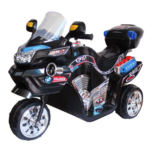 Ride on Toy, 3 Wheel Motorcycle for Kids, Battery Powered Ride On Toy by Lil' Rider  Ride on Toys for Boys and Girls, 2 - 5 Year Old - Black FX
