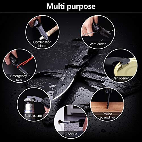 Multitool Pocket Kinfe for Men, Multi Tool Cool Gadgets, Multipurpose Folding Utility Plier for Camping, Fishing, Survival, Car, Hiking. Unique Gifts for Dad Husband Boyfriend