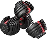 evionsits 52.5 Lbs Adjustable Dumbbells, Dumbbell Weights, Dumbbells Set for Men and Women Home Fitness Weight Set Gym Workout Exercise Training (A Pair 52.5 Lbs)
