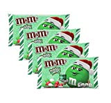M&MS Holiday Mint Seasonal Christmas Chocolate Candy Bulk Pack of 4 Bags - 9.2 oz Per Bag - 36.8 oz Total