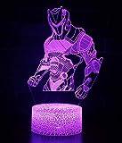 Matériau: acrylique + ABS, interrupteur tactile, tension: 5V, puissance: 0,5W, Dimension d'effet: 22.5x10.5x8.5cm, Socle: 8.5x8.5x3.7cm. Visualisation 3D: cette incroyable lampe inconcevablement travaillée par une lampe de cadre en 2D qui n'a que que...