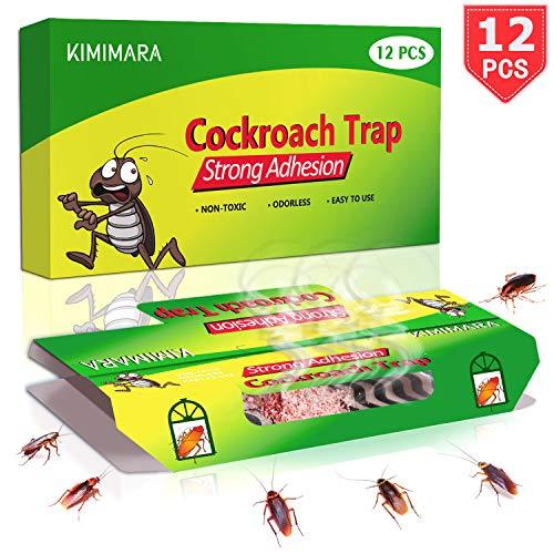Kimimara Cockroach Trappole, 12 Pcs Trappole per scarafaggi con Bait Gratuita, per la Casa Pest Control Uccidere i Triotti Formiche Ragni e Altri Insetti