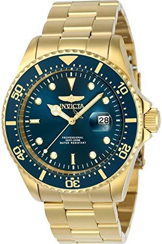 Invicta 23388 Pro Diver Herren Uhr Edelstahl Quarz blauen Zifferblat