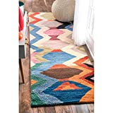 nuLOOM Aguirre Hand Tufted Wool Runner Rug, 2' 6' x 8', Multi
