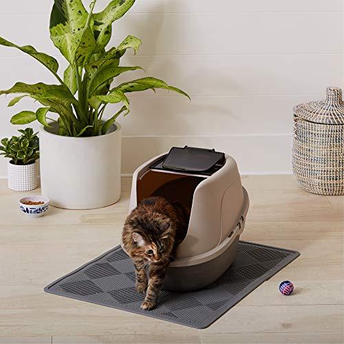 AmazonBasics No-Mess Hooded Cat Litter Box, 21 x 16 x 15 Inches, Standard