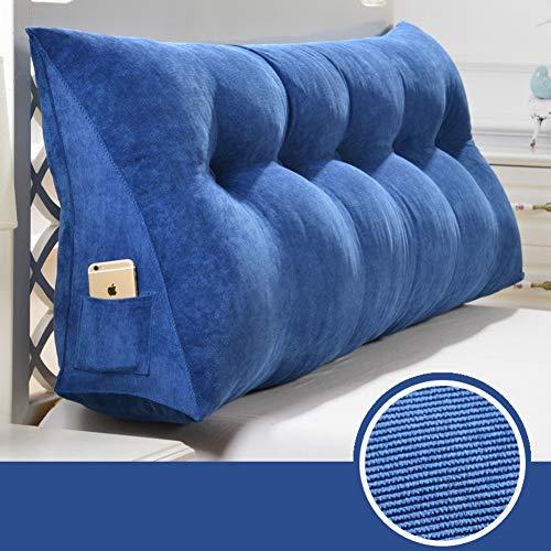 Qwert Cuscino a cuneo triangolare imbottito per divano o letto, grande cuscino per testiera e...