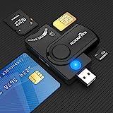 Lecteur de Carte à Puce USB 4 Ports,Carte CAC à accès commun USB Militaire...