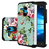 "Jitterbug Smart (5.5"") Case, Linkertech [Shock Absorption] Heavy Duty Defender Dual Layer Protector Hybrid Case Cover for Jitterbug Smart (5.5inch) (Peony)"