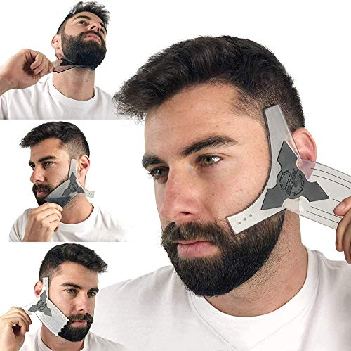 Beard Shaping Tool Kit for Men [Comb & Pencil Liner...