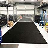 LINLA Premium Absorbent Oil Mat Contains Liquid Garage Floor Mat, Reusable, Washable, Protects Garage Floor or Driveway Surface, Shop,Parking, 6.6 ft x 8.5 ft