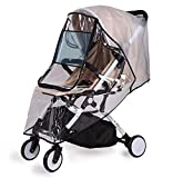bemece Stroller Rain Cover Universal, Baby Travel Weather Shield, Windproof Waterproof, Protect from Dust Snow…