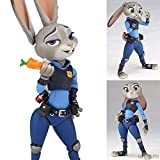 Zqcay Figurine Pop Manga Policier Lapin Judy Hops Figurine en Boîte Mobile 11Cm Anime PVC...