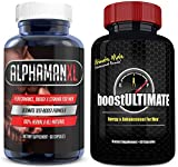 AlphaMAN XL Male Pills | - Enlargement Booster Increases Energy, Mood & Endurance/boostULTIMATE Testosterone Booster Pills, Low T Supplement with Tongkat Ali, Maca, Ginseng for Male Enhancement