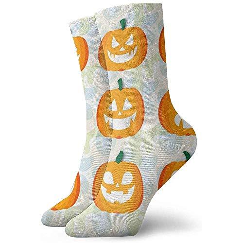 Kevin-Shop Calzini alla Caviglia di Zucca di Halloween Calzini Casual Casual per Uomo, Donna e Bambino