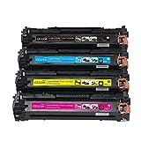 Cartouche de toner compatible CE320A ~ CE323A 128A HP Color CP1525n CM1415fnw facile à ajouter de la poudre pour équipement de bureau en gros size fourcolors