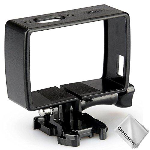 Custodia Fibbia Protettiva Telaio Laterale Cassa per Xiaomi Yi 4K+ .Yi Discovery .Yi Lite .Yi 4K Plus .4K action camera Accessori della Fotocamera Sportiva + pezza per pulire YI-Discovery-BK-01