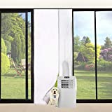 FUNTECK Screen Door Seal for Portable Air Conditioner and Tumble Dryer, Snap Shut Automatically, Fits Door Size up to 34'x82' Max