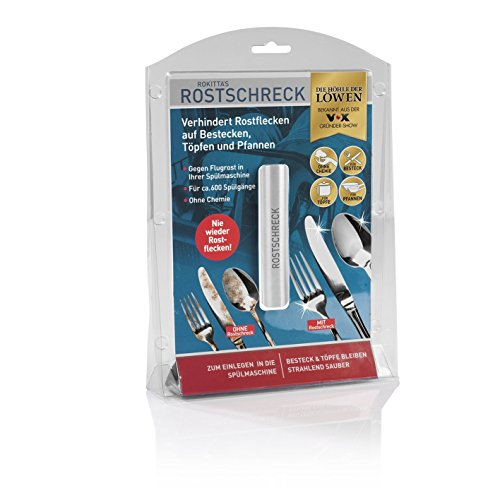 Rokitta\'s Rostschreck Gegen Flugrost, Verhindert Rostflecken Auf Besteck, Töpfen und Pfannen - Ohne Chemie (Aluminium), 1 Stück