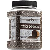 Roots Circle Non-GMO Bulk Chia Seeds   2.2lb Raw Superfood, Vegan, Kosher, Nut & Gluten Free, Keto, Paleo & Whole30 Friendly Add Omega 3 & Protein to Salad, Smoothie, Oatmeal, Acai Bowl   Airtight Jar
