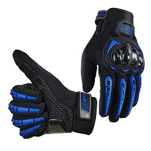 Alyphiin Motorradhandschuhe Anti-Rutsch Anti-Kollision Touchscreen Handschuhe Unisex Atmungsaktiv Warm Motorrad Handschuhe für Motorradrennen MTB Fahrrad Outdoor Sportarten Handschuhe