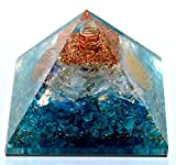 Elite Orgone - Opalite Crystal Orgone pyramid | EMF Protection & Energy Generator | Meditation Yoga | A Solution for Negative Energy & Chakra Healing