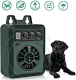 ULTPEAK Anti Barking Device, Ultrasonic Stop Barking Device with 4 Adjustable Levels for 50 Feet Effective No Dog Bark, USB Rechargeable Dog Bark Control, Safe & Humane (Green)