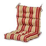 Greendale Home Fashions AZ4809-ROMASTRIPE Tuscan Stripe 44'' x 22'' Outdoor Seat/Back Chair Cushion, Set of 1