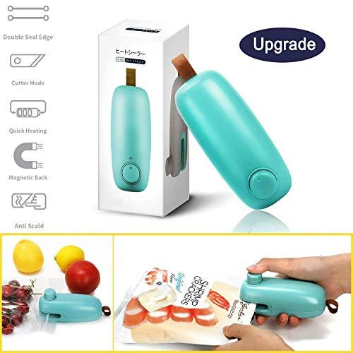 STLOVe Mini Sigillatore, Mini Bag Sealer, 2 in 1 Sigillatrice per Sacchetti Portatile, Sealer Per i Sacchetti di Plastica Saldatrice, della Mano Sealer Per Sigillare i Sacchetti