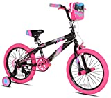 Kent 18' Sparkles Girls Bike, Black/Pink Summer Toy Kids Outdoor Play
