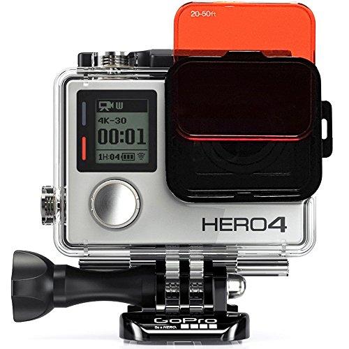 Sandmarc Aqua Filter - Filtro subacqueo per GoPro Hero 4/3+, set di filtri rossi, magenta e giallo, accessori per immersioni e boccaglio, confezione da 5
