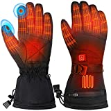 Fenvella Electric Heated Gloves for Women Men, Waterproof & Rechargeable Battery Heated Gloves with...
