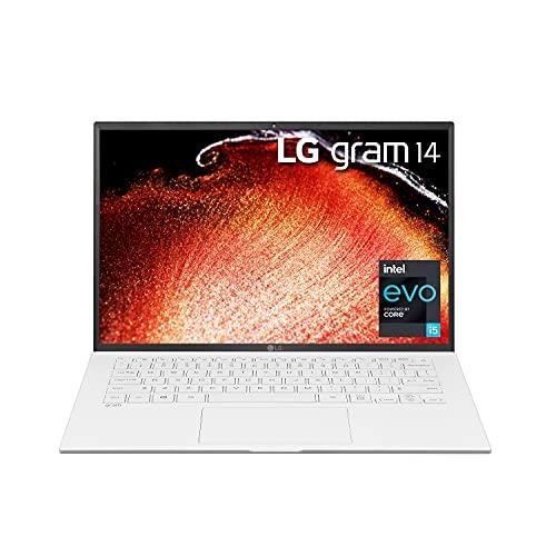 LG LCD Laptop 14' WUXGA (1920 x 1200) IPS Display, 11th Generation Intel core i5-1135G7 Processor, Intel Xe Graphics, DCI-P3 98%, 8Gb RAM, 256GB SSD, 25.5 Hr Battery Life, Alexa Built-in