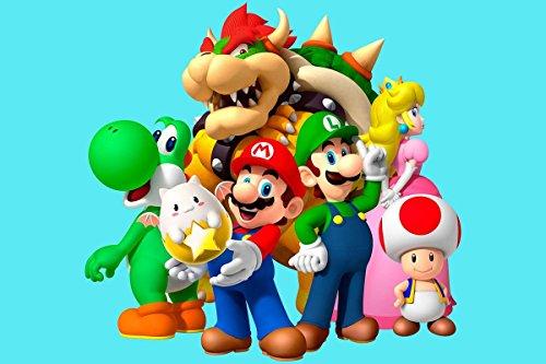 Modecor CIALDA in Ostia per Torta Super Mario Formato A4 21x29,7 cm Compleanno Festa