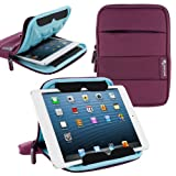 rooCASE 7 Inch Tablet Sleeve Case, Water Resistant Drop Protection Bag Case with Stand (Purple) for iPad Mini, Fire HD 7 HD 6 / HDX 7, Galaxy Tab 7.0 8.0 / Tab S 8.4 S2 8.0, Nexus 7 2013